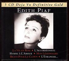 EDITH PIAF  Coffret 5 CD  64 titres  Collection DEJA VU DEFINITIVE GOLD 2006