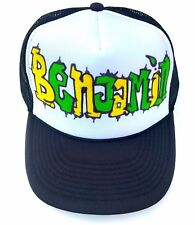 Benjamin Custom Customized Name Gift Trucker Hats Caps Personalized Kids Adults