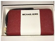 BNIB Michael Kors Red/White Leather Clutch For iPhone 6/5/5S/5c/4S Gift Idea!