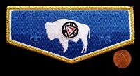 "KWAHADI LODGE 78 OA CONQUISTADOR COUNCIL PATCH ""...REMEMBERS COMANCHE TRIBE"" GMY"