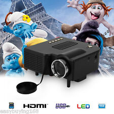 Mini Proyector LED Multimedia Home Cinema Teatro Para PS4 PC HD 1024x768 VGA USB