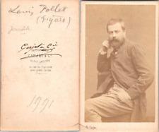 Carjat, Paris, Louis Pollet, journaliste au Figaro Vintage CDV albumen carte de