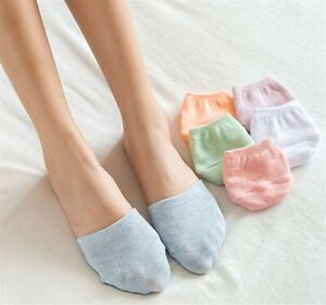 Women Girl Summer Half Front Forefoot Foot Only Invisible Cotton short Socks