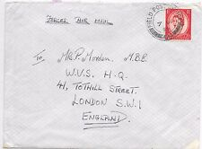 GB FORCES COVER F.P.O.190 - W.V.S.LONDON; 7/6/1954 SG519 (T1).