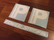Powerstroke White Stickers Set Of Two 2 Diesel Truck Decal Vinyl With Extra