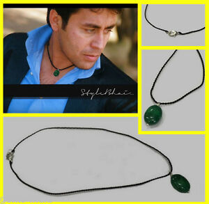 """Handmade 100% Natural Emerald Fashion Necklace For Decent Look 17"""" Long"""