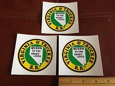 Railroad Decals (3) -VIRGINIA & TRUCKEE (V&T)- free shipping from USA