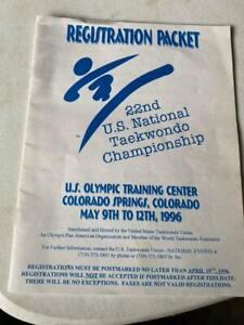 1996 U.S. National Taekwondo Championship Registration Packet - Unused