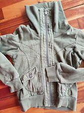 diesel army green, xs zip up cardigan, girls