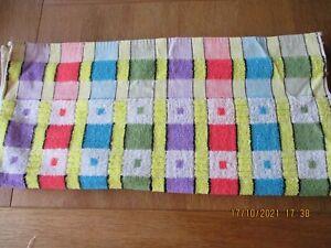 1960S-70S VINTAGE/RETRO MULTI COLOUR HAND TOWEL NEW