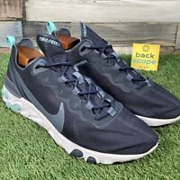 UK10 Nike React Element 55 Navy Tint Trainers - CI2678 - RRP£115 - EU45