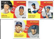 ALEX RODRIGUEZ  (3)  2008 TOPPS HERITAGE  THEN & NOW CARDS SEE SCAN