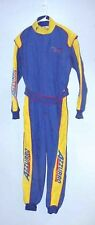NEW Medium Azzurro Go Kart racing Blue / Yellow Double Layer Firesuit  TL12