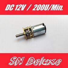 DC 12v Mini motore a ingranaggi gear MOTORE 200 giri/min 3mm ALBERO per modellismo ROBOT