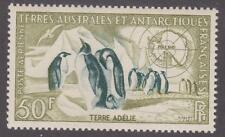 French Southern & Antarctic Territory 1956 #C1 Emperor Penguins and Map - MNH