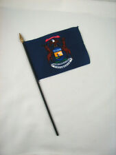 Michigan- State Mini Stick Flag- 4 inches by 5 1/2 inches- New!