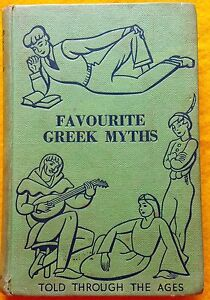 Favourite Greek Myths by Lilian Stoughton Hyde Vintage Hardcover '67 B&W plates