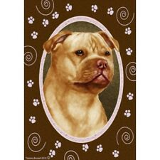 Paws Garden Flag - Orange Staffordshire Bull Terrier 172471