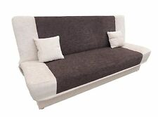"DOUBLE Sofa Bed COUCH ""TOFFEE"" storage BONELL SPRINGS SETTEE polskie wersalki"