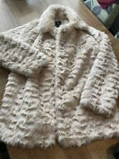 Atmosphere Cream Fur Coat Size 10