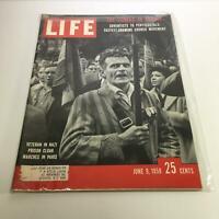Life Magazine: June 9, 1958 - Veteran in Nazi Prison Cloak Marches in Paris