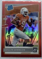 2020 Panini Chronicles Draft Picks Optic Collin Johnson Rated Rookie Red
