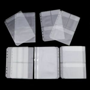 10 Pack A5 Binder Pocket with 6 Holes Binder Sleeves Document Notebook Binder