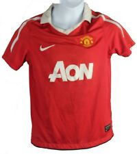 MANCHESTER UNITED F.C. AON YOUTH SMALL NIKE HOME JERSEY 2010-2011 VTG (CA-A)
