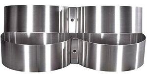 "Highland Stainless Steel Cylinder Bands 8"" Diameter"