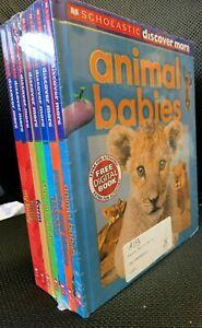 Set of 7 Scholastic Discover More books