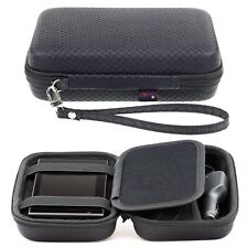 Black Hard Carry Case For Garmin Nuvi 760 765T 770 GPS With Accessory Storage
