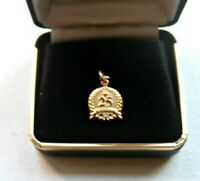 25th Anniversary Gold Filled  And Diamond Pendant Charm