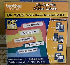 BROTHER DK1203 DK-1203 File Folder Label QL-1050N QL-1060N QL-1050 Die-Cut Roll