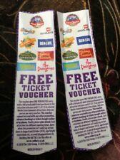 2x 2 for 1Free Merlin Ticket Vouchers Legoland, Thorpe Pk, sealife alton towers
