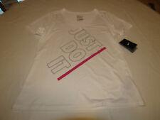 Nike Dri Fit Atletic Cut Womens active t shirt M 658592 white 100 training NWT*^