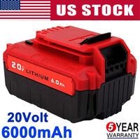 6.0Ah 20V PCC685L Battery for Porter Cable Max Lithium-Ion PCC680L PCC600 PCC640