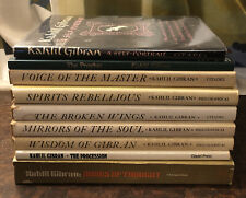 Kahlil Gibran Book Lot Of Nine The Prophet, The Procession, Spirits Rebellious