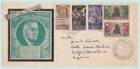1946 CORPO POLACCO 5 valori su lettera da Barletta a Barcellona