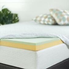 "4"" Inch Deluxe King Size Green Tea Memory Foam Mattress - High Quality Topper"