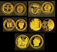★★ COLLECTION DES 5 COPIES PLAQUé OR DES 5 ESSAIS DES 10 FRANCS PETAIN 1941 ★★