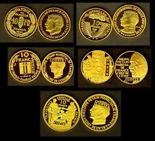 ★ COLLECTION DES 5 COPIES PLAQUé OR DES 5 ESSAIS DES 10 FRANCS PETAIN 1941 ★★
