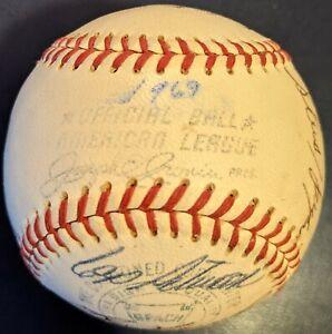 1969 Cleveland Indians AUTOGRAPH Cronin OMLB JSA x22 w/ Luke Easter (FREE S/H)