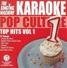 The Singing Machine Karaoke CD +G Pop Culture Top Hits Vol. 1 New Factory Sealed