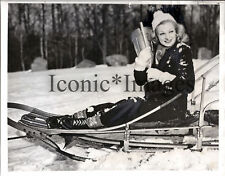 1938 PHOTO-ACTRESS CLAIRE LUCE-QUEEN of WINTER SPORTS