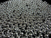 Silver Plated Round Metal Spacer Beads 1,000 Pieces. 4mm