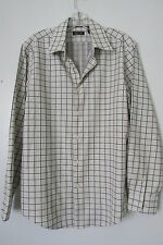 Structure  White Check Premium Woven Cotton Long Sleeve Button Down Shirt SIZE:M