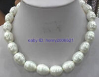 WEDDING NOBLEST BIG 16mm SOUTH SEA WHITE SHELL PEARL NECKLACE 18""