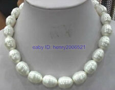 WEDDING NOBLEST BIG 16mm SOUTH SEA WHITE SHELL PEARL NECKLACE 20INCH