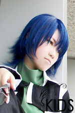 Gundam seed Athrun Zala Cosplay wig costume blue color