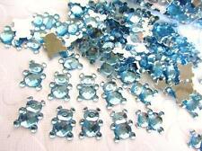 110 Baby Bear Rhinestone Acrylic Jewel Craft/boy shower/decoration/bow E30-Blue